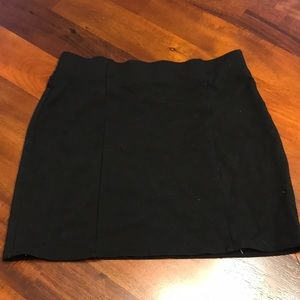 Forever 21 black body con skirt